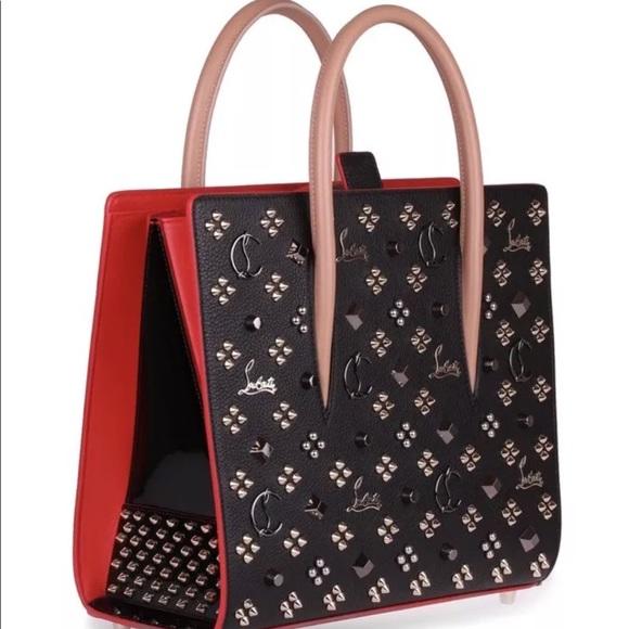 Womens Paloma Medium Denim Tote Bag Christian Louboutin Fyt0aX